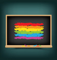 lgbt rainbow flag on school background vector image vector image