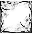 lily frame vector image vector image