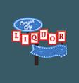 liquor canyon city retro street signboard vector image vector image