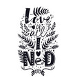 love is all i need lettering font set vector image vector image