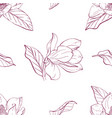 magnolia bouquet seamles pattern vector image