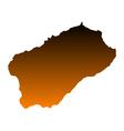 Map of Santo Antao vector image vector image
