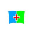 medic book icon logo design element vector image