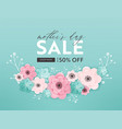 mothers day sale design spring promo banner vector image vector image