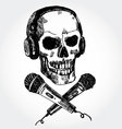 music scull vector image vector image