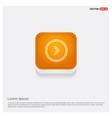 next arrow icon orange abstract web button vector image vector image