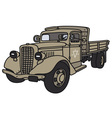 Old miliary truck vector image vector image