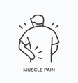 person with backache line icon outline vector image vector image