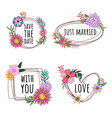 quote floral bouquet collection vector image