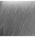 Rain transparent template background EPS 10 vector image vector image