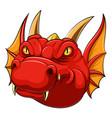 red dragon head mascot vector image vector image