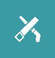 saw icon simple gardening element symbol design vector image