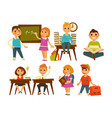 school classroom children education and knowledge vector image