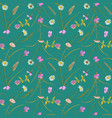 seamless pastel pattern with greenery vector image
