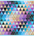 seamless pattern background a triangles vector image