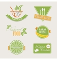 Set of badges for organic and natural products vector image vector image