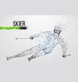 silhouette of skier vector image
