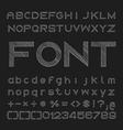sketched font Alphabet and number design vector image
