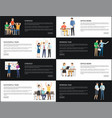 strategy successful team set vector image vector image