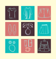 summerFashion accessories collection vector image vector image
