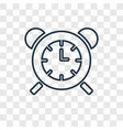 table clock concept linear icon isolated on vector image vector image