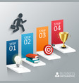the four steps to success vector image