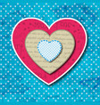 three valentines hearts concept vector image