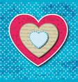 three valentines hearts concept vector image