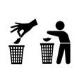 Tidy man or do not litter symbols keep clean and