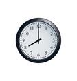 wall clock set at 8 o clock vector image