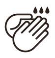 wash hands icon vector image vector image