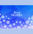 white winter christmas snowflakes on blue vector image vector image