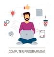 working programmer vector image vector image