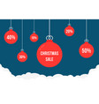 xmas tree toys like christmas sales or discount vector image vector image