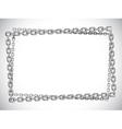 Metal chain frame vector image