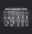 poster beer glassware types vector image