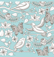 vintage romantic pattern birds vector image