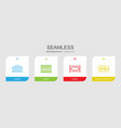 4 seamless icons vector image vector image