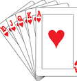 A royal straight flush playing cards poker vector image vector image