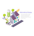 alternative green energy web banner vector image