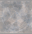 ancient stone carving geometric pattern ornament vector image