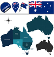 Australia map with named divisions vector image