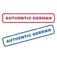 Authentic German Rubber Stamps vector image vector image