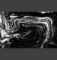 black and white liquid texture watercolor hand vector image vector image