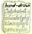 Black hand drawn alphabet doodles vector image vector image