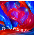 bright red-blue futuristic background happy vector image vector image