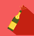 bubble champagne icon flat style vector image vector image