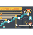 Business Concept Stairway to Success Infographic vector image vector image