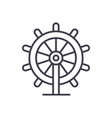 business steering wheel linear icon sign symbol vector image