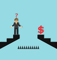 businessman and an obstacle to success vector image vector image
